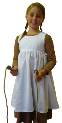 girl in costume with skipping rope