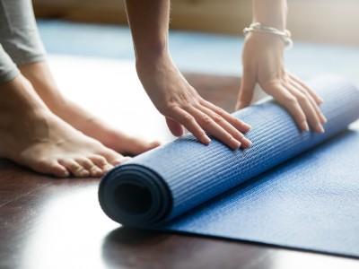 Yoga training concept